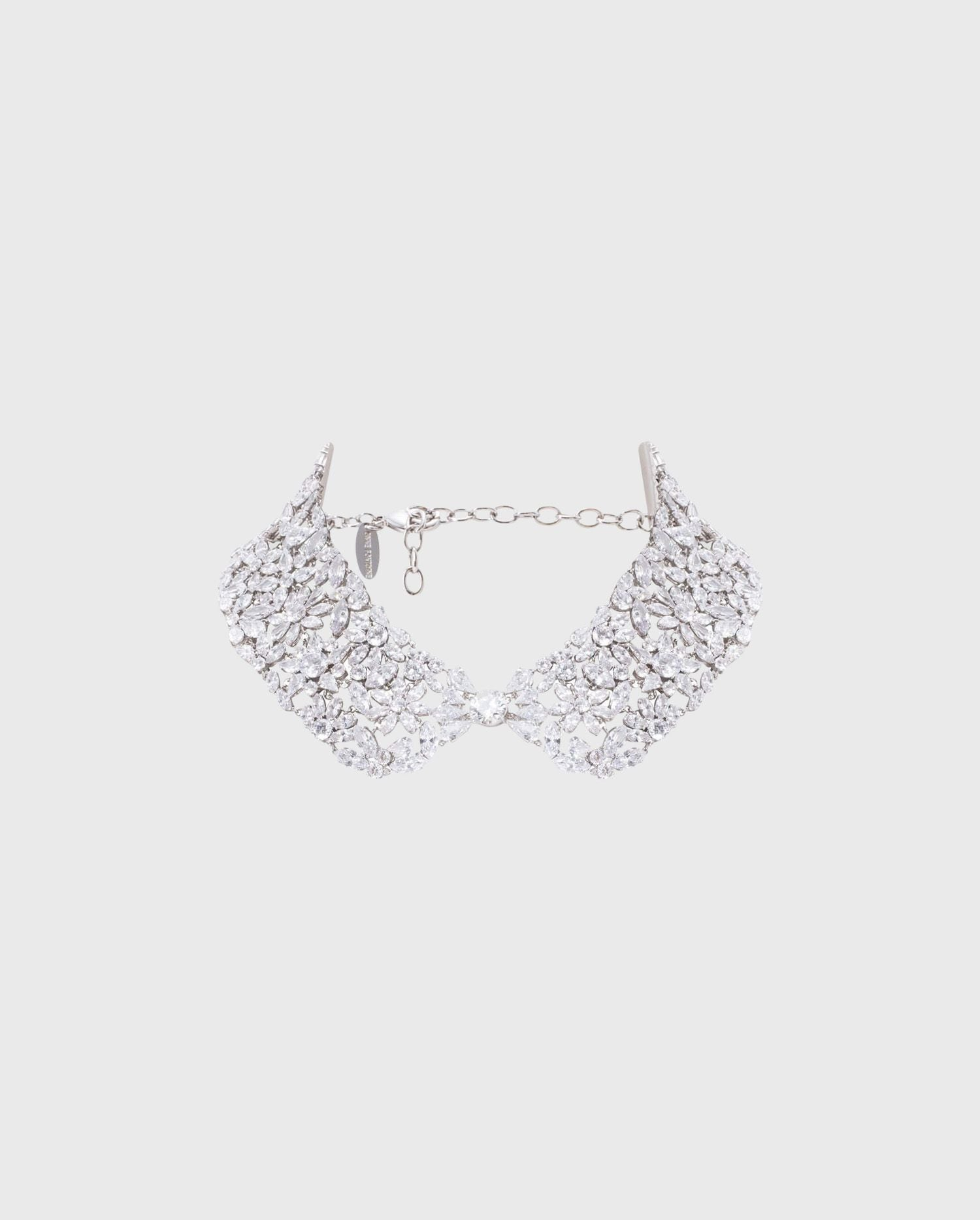 Feel like royalty in the CAROLINA statement crystal collar from Parisian designer Anne Fontaine