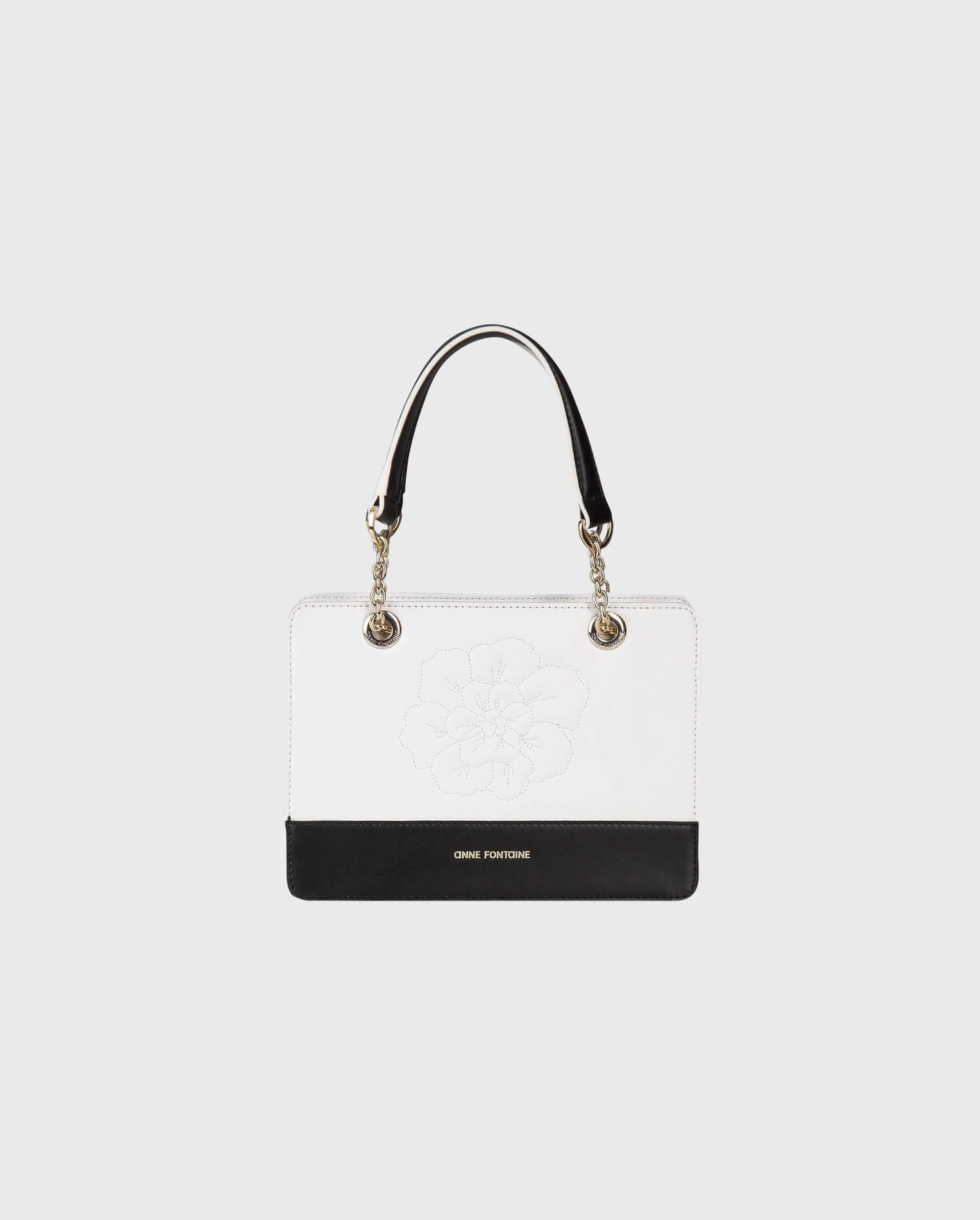 The ICEBERG Black & White Leather Shoulder Bag Is The Perfect Handbag To Build Your Parisian Chic Wardrobe.