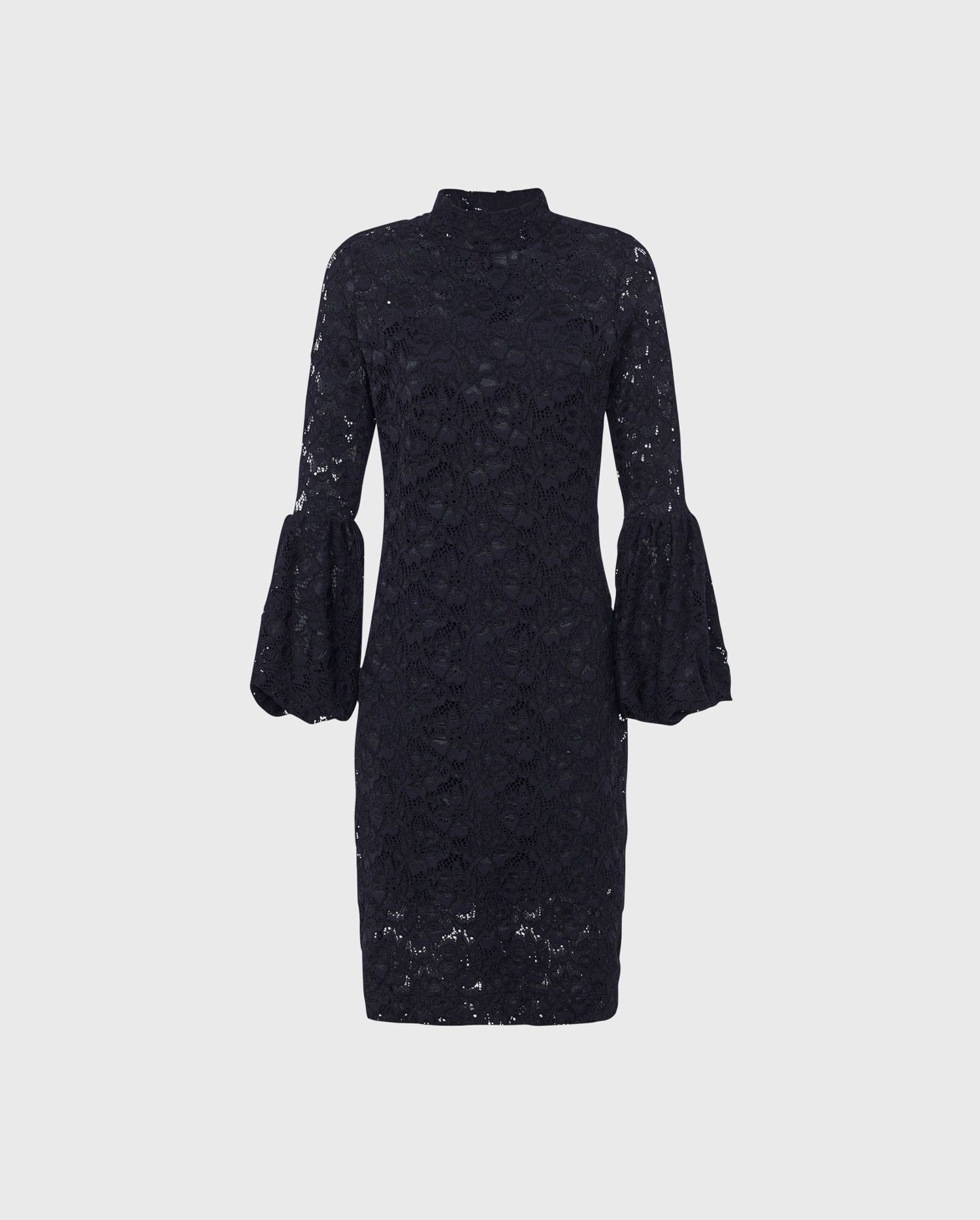 Add a look of Parisian chic to your style with the black lace, statement sleeve LULLY dress.