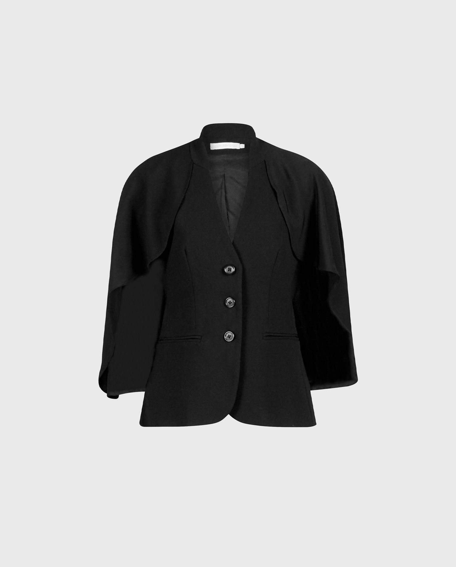 Take your look to new heights with the statement black MYLIANE crepe black jacket.